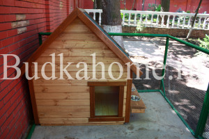 фото собачья будка с навесными мисками