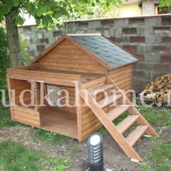 фото будки для собаки с крыльцом