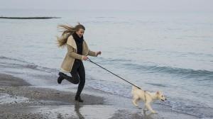 фото бег с собакой